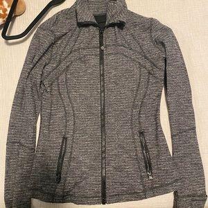Heathered Grey & White lululemon Define Jacket